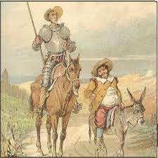 quijote de la mancha y don sancho panza