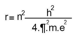 formula radio orbita del hidrogeno