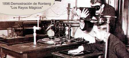 Rontgen hace una demostracion de los rayos X