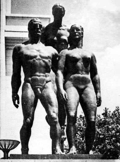 raza aria de hitler esculturas