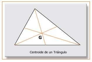 centro de gravedad de un triangulo