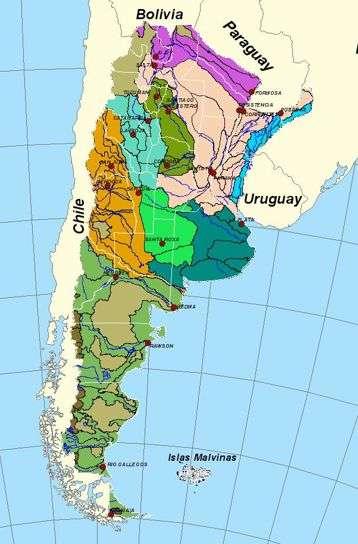 mapa de cuenca hidrografica de argentina