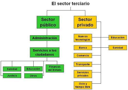 cuaro resumen sector terciario