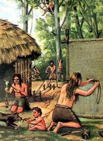tejedor en el neolitico