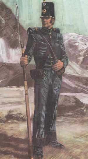 soldado uniformado del los andes