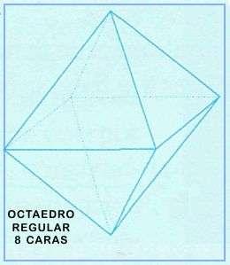 poliedros regulares octaedro 8 caras