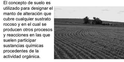 concepto de suelo