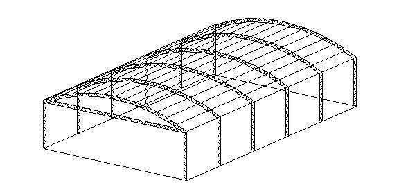 Software para calcular esfuerzos en arcos parabolicos for Construccion de galpones