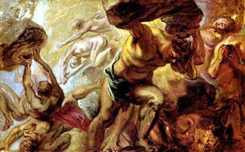 lucha de titanes y dioses