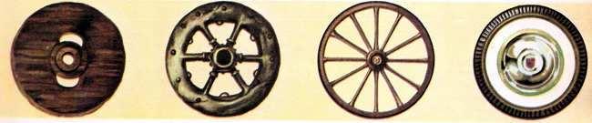 tipos de ruedas historia