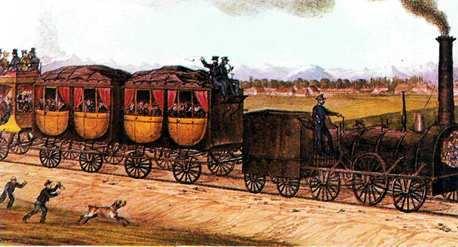 tren en la ciudad