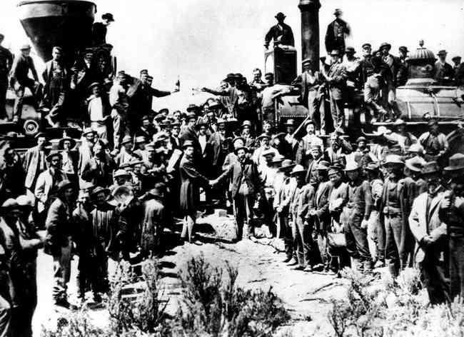 La Reconstrucción de EE.UU.:Ferrocaril Transcontinental , Resumen