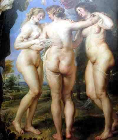 Tres Gracias Pintura de Rubens
