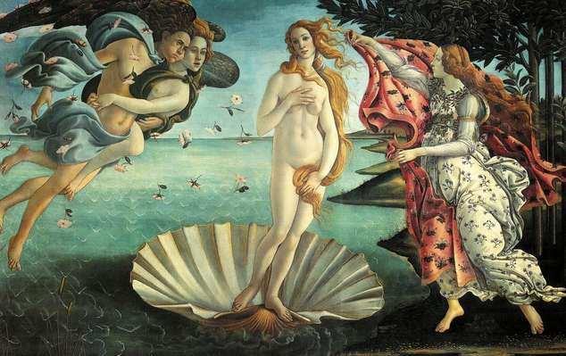 belleza de Venus de Botticelli