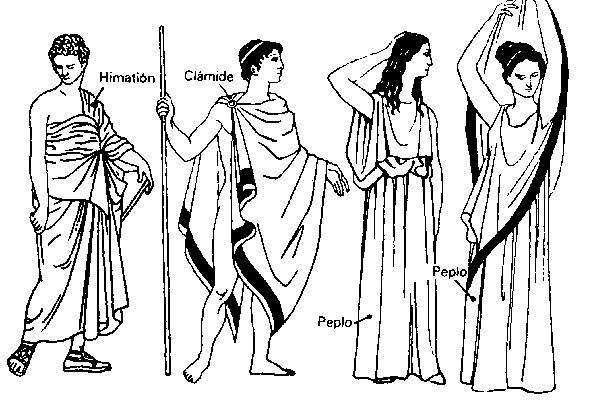 La vestimenta en Grecia Antigua Imperio Griego y Romano