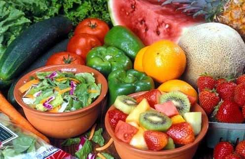 alimentos sanos verduras y frutas