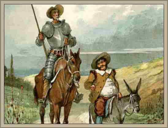 Alegoria, Ejemplos y Concepto de Don Quijote y Sancho Panza