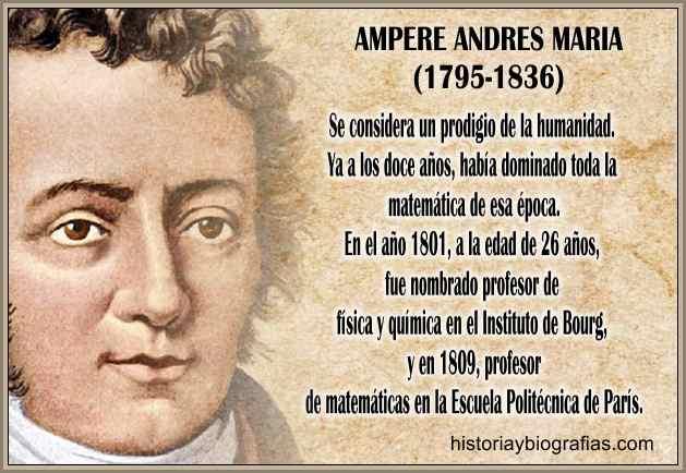 Biografia de Ampere Andres Maria