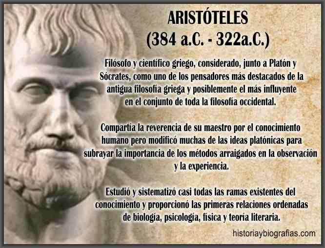 Biografia de Aristoteles Pensamiento aristotelico Filosofia Medieval