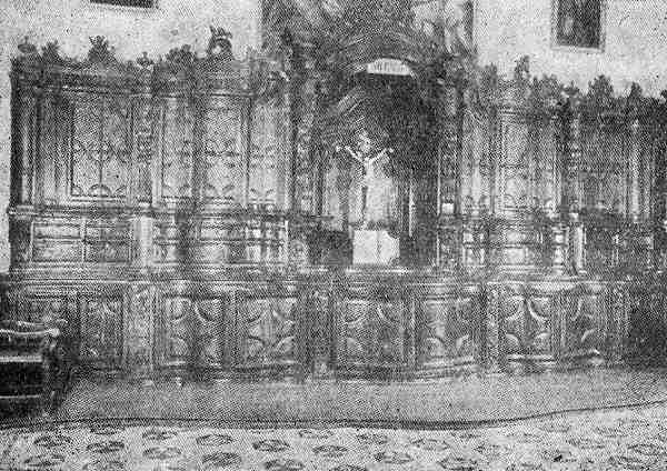 mueble con arte jesuitico guarani