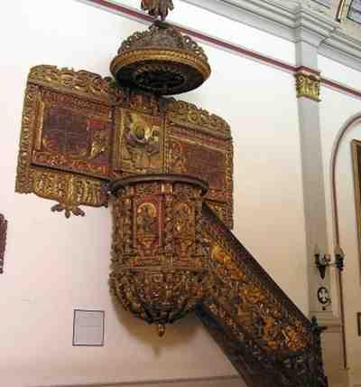 Pulpito Iglesia Matriz de Jujuy, Tallado en Madera