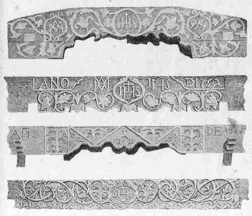 dinteles de madera:arte jesuita