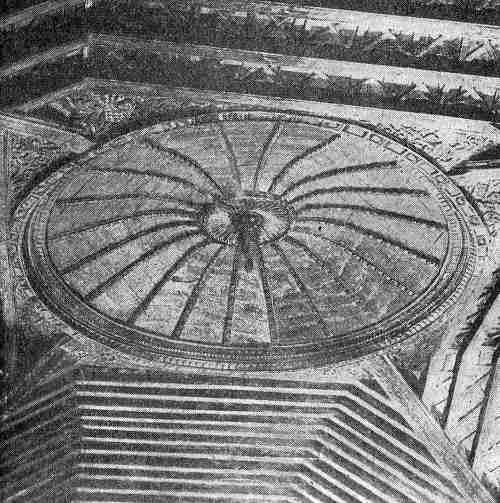 arte jesuita-guarani intrados de la cupula en la iglesia de santa fe