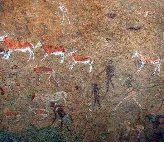 arte rupestre en las cuevas de namibia