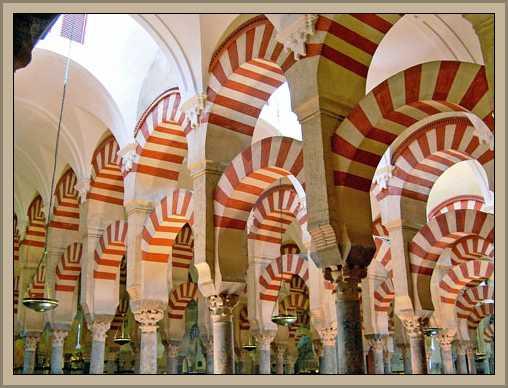arcos herradura de la arquitectura arabe