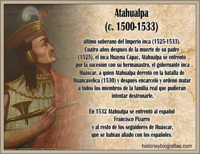 Asesinato de Atahualpa, El Emperador Inca Asesinado – BIOGRAFÍAS e HISTORIA  UNIVERSAL,ARGENTINA y de la CIENCIA