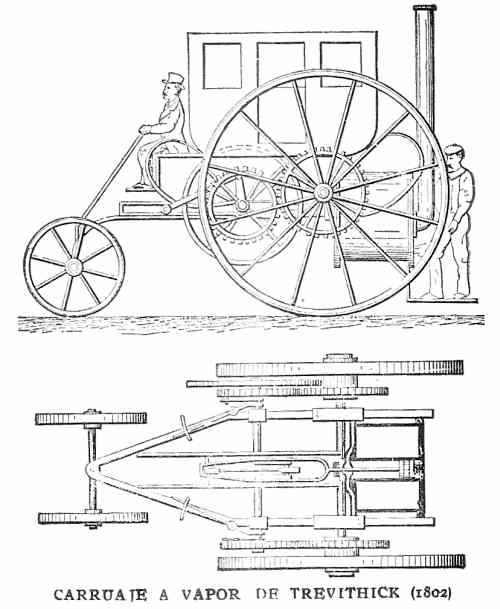 carruaje  a vapor de Trevithick