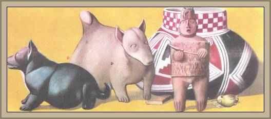 arte azteca de barro cocido