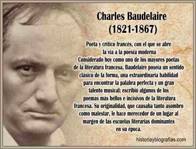 Biografia de Baudelaire Charles Poeta Vida y Obra Literaria