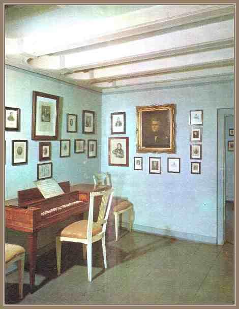 sala en la casa de beethoven