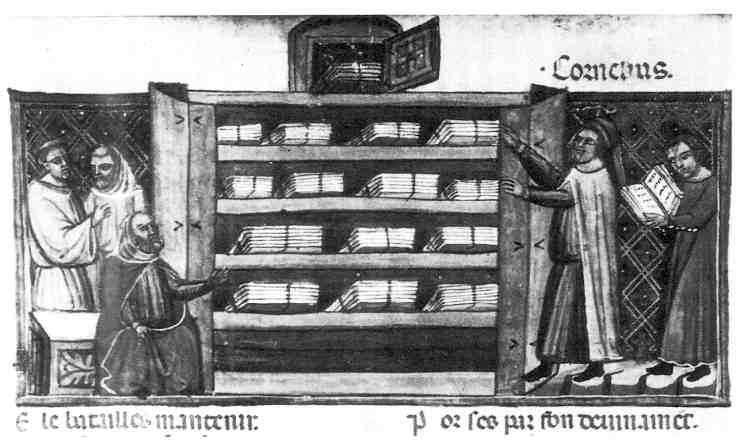 biblioteca en los monasterios