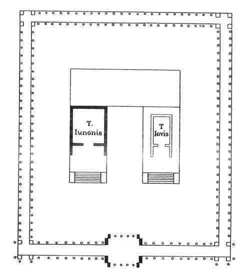 plano de una biblioteca roma antigua