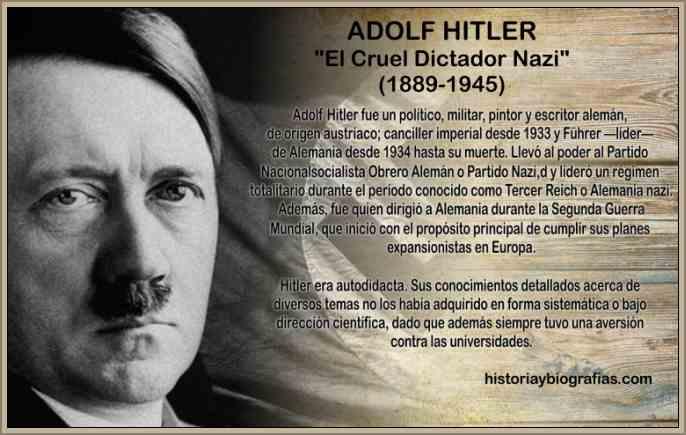 biografia de hitler adolf
