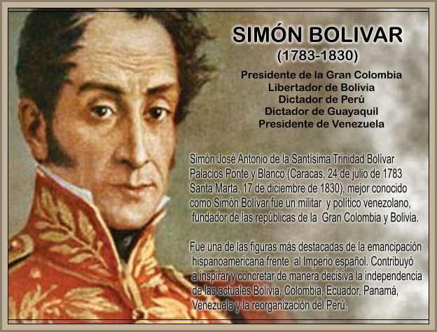Simo Bolivar Libertador de Peru y Venezuela