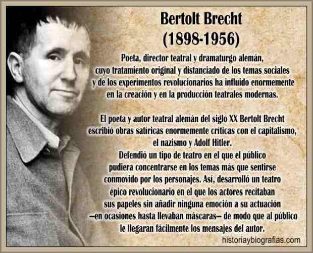 Biografia de Brecht Bertolt Resumen de su Obra Artistica y Vida
