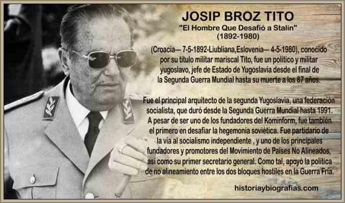 Biografia de Josip Broz Tito Presidente de Yugoslavia