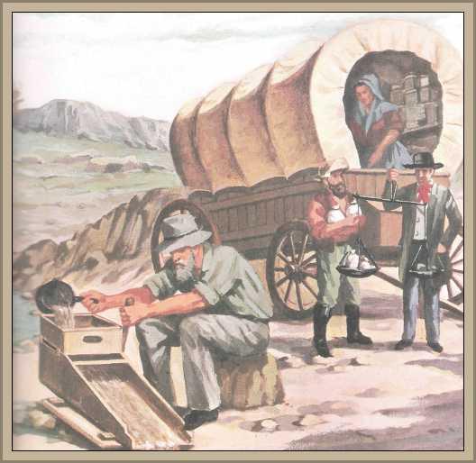 buscadores de oro en el oeste de estados unidos