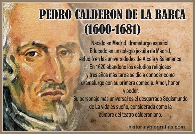 Calderon de la Barca Dramaturgo Español