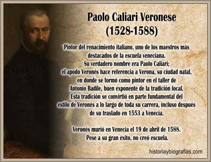 Biografia de Paolo Caliari El Verones Pintor