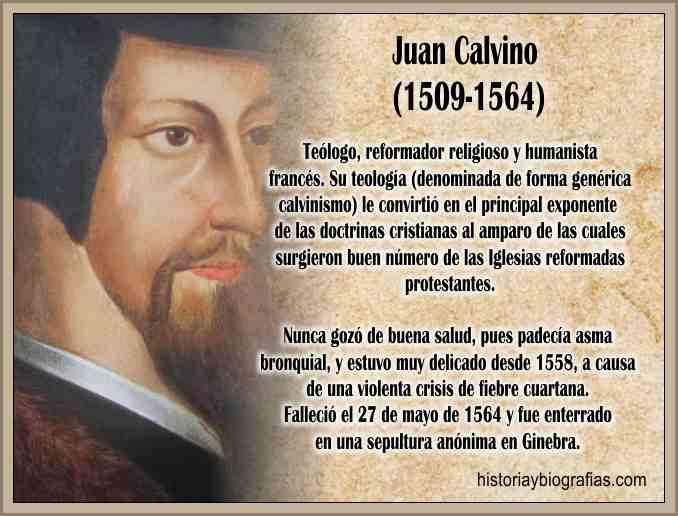 Biografia de Juan Calvino y su Reforma Religiosa Resumen
