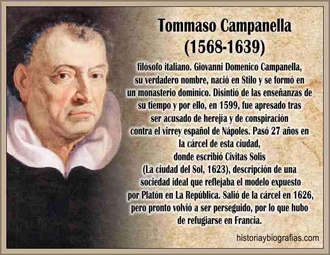 Biografia de Campanella Tommaso Filosofía del Pensador Italiano