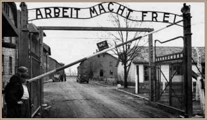 entrada a un campo de concentracioa aleman