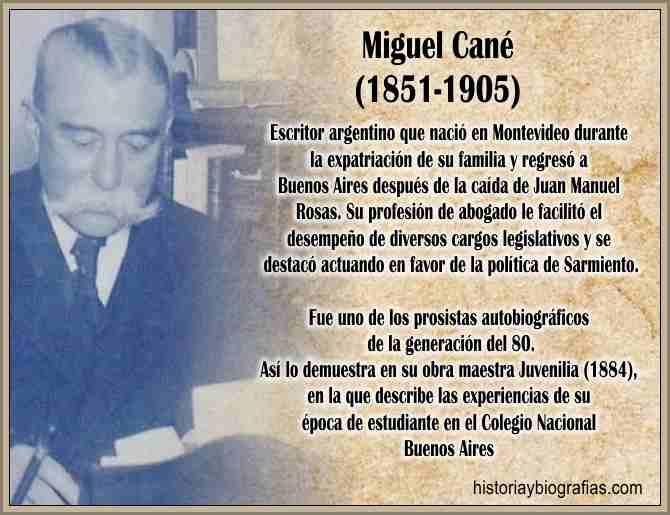 Biografia de Cane Miguel y Caracteristicas de su Obra Literaria