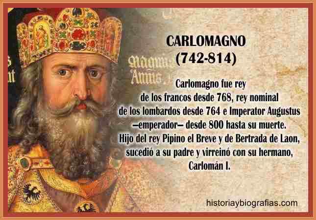 Biografia de carlomagno rey de los francos