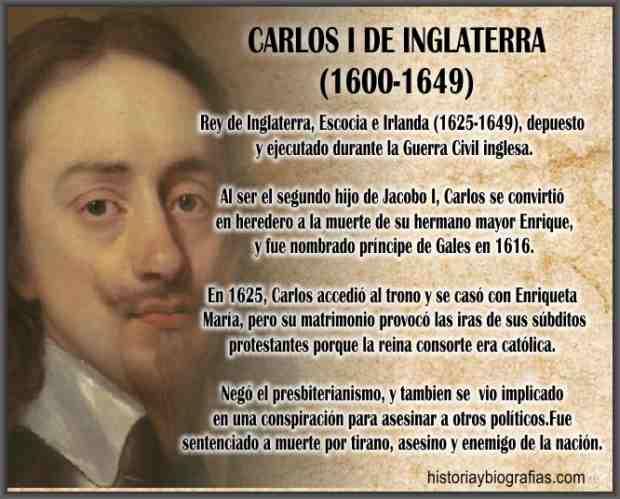 biografia de Carlos I de Inglaterra
