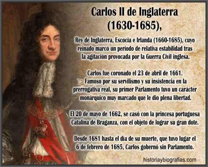 Biografia de Carlos II de Inglaterra Caracteristicas del Reinado ...